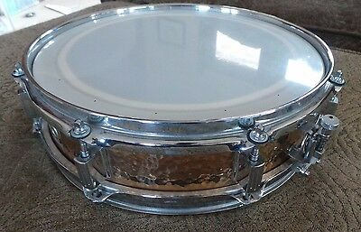 1990's Ludwig Hammered Bronze Snare Drum 13x3 inches - Monroe Badge!