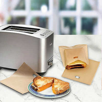 5pcs Toaster Bags for Grilled Cheese Sandwiches Reusable Non-stick Bread Bags