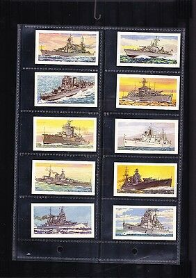 tea cards ships of the royal navy 1961 full set