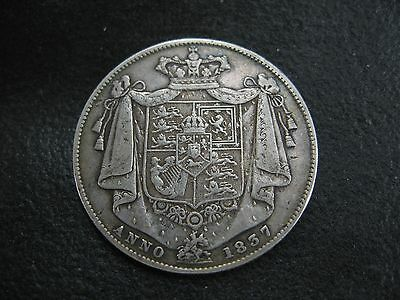 1837 Half Crown - William Iv - Rare - Silver Half-Crown Coin