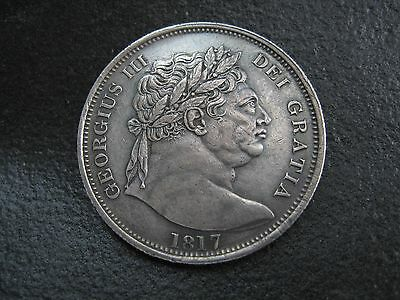 1817 Half Crown. George Iii - Large Head - High Grade Half-Crown Coin