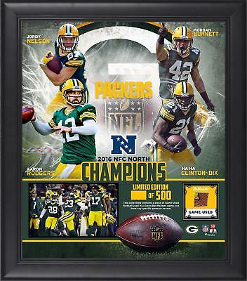 Green Bay Packers Framed 15x17 2016 NFC North Division Champions Collage