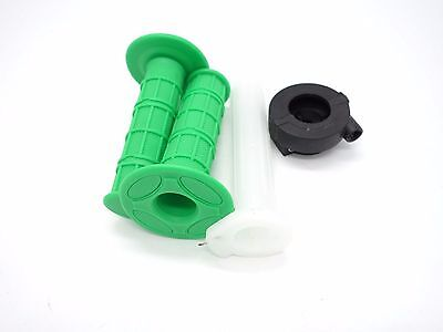 22mm Twist Throttle Housing + Green Hand Grip +Tube PIT TRAIL DIRT BIKE
