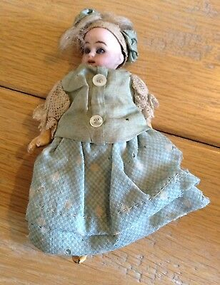 Miniature Antique Victorian Doll Late 19th Early 20th Century As Found