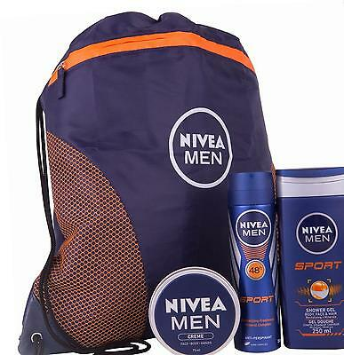 Nivea Men Sports Plus Gift Set for Men's - 3 Pieces