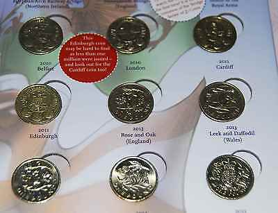 £1 Coins - Rare sets (Floral and cities) - UK Coin Hunt