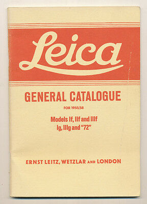 Leitz, Leica General Catalogue 1955/1958 RISTAMPA in inglese D898