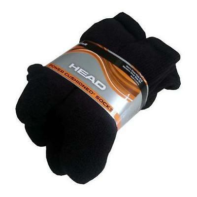 6 Pack Costco Head Power Cushioned Socks Black Men's Size 9-12 Cushion / Nwot
