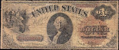 "*RARE* $1 1880 SAWHORSE US Note! ""LG. BROWN SEAL"" FREE SHIPPING! Z24629891"