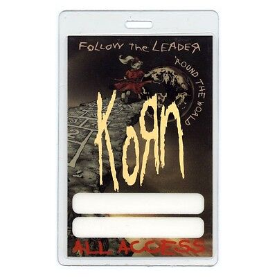 Korn authentic 1998 concert tour Laminated Backstage Pass