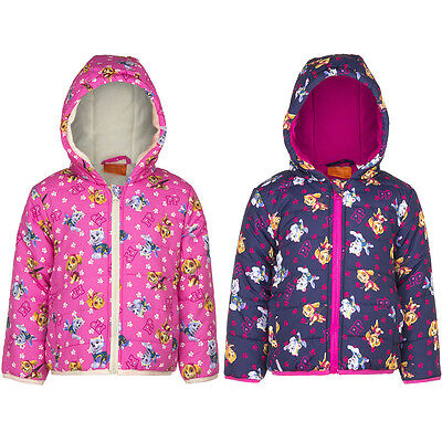 PAW PATROL GIRLS JACKET WINTER COAT PUFFER NEW Official Licensed 2-6 YEARS