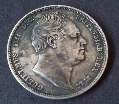 William Iv 1834 British Silver Halfcrown