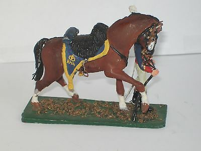 Napoleonic ROYAL HORSE ARTILLERY SOLDIER and Horse 1/32 scale unknown make
