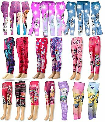 Despicable Me Frozen MLP Monster HIgh Paw Patrol Girls Leggings New Official