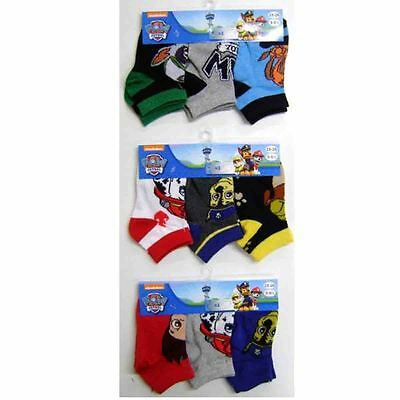 Official Licensed Paw Patrol Socks,3 pairs per pack,Ryder,Chase,Rocky &Marshall