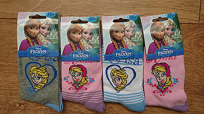 Frozen Anna Elsa Girls 4 pack Socks Set
