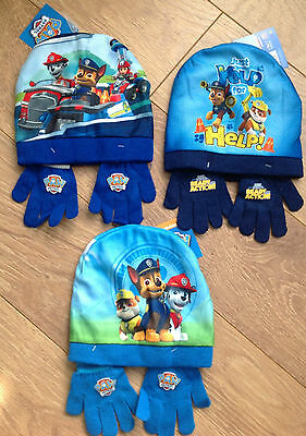 Paw Patrol Boys Warm Winter Hat and Gloves Kids