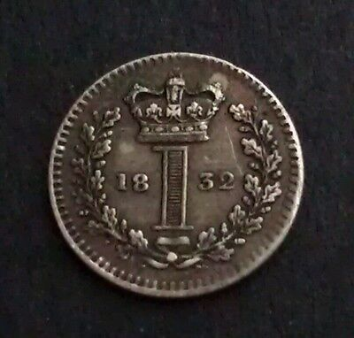 William Iv 1832 British Silver Maundy Penny
