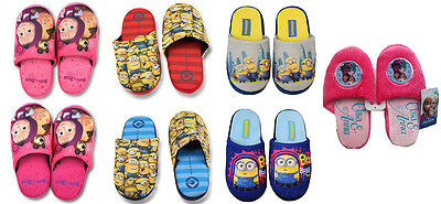 Minions Frozen Masha and The Bear Mule Slippers Boys Girls Kids New