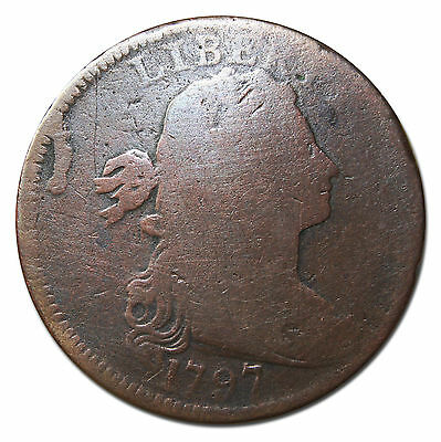 1797 Draped Bust Large Cent Scarce Coin Lot# MZ 3800