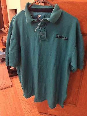 Genuine Snap On Tools T Shirt Tshirt, Snapon Snap-on, Large Blue Polo Shirt Mens