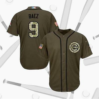 Chicago Cubs #9 Javier Baez Salute To Service Jersey Men Baseball Jersey
