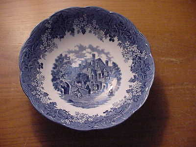 J & G Meakin Romantic England 8 1/4 inch Round Vegetable Bowl, Blue