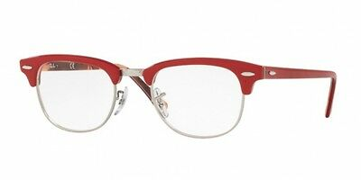 Ray-Ban RX5154 CLUBMASTER RED ON TEXTURE CAMUFLAGE (5651)  (49 mm)