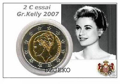 "Monaco 2 Euro Commemorativo  2007 ""grace Kelly""   Rara"