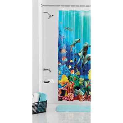 Mainstays Coral Reef Shower Curtain 70x72