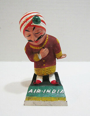 Air India Airlines Maharajah Advertising Ad Mascot Figure Vintage Airline Travel