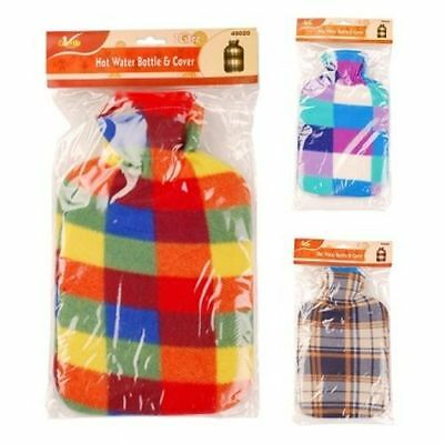 2L,1.5L,1L,0.5L Large Rubber Hot Water Bottle With/without Warm Fleece Uk Seller