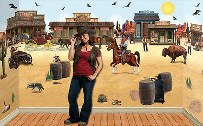 Desert Sky and Sand Backdrop plus props Cardboard Cutout Western Theme