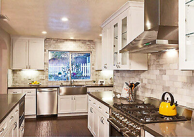KBM Kitchen Cabinets White Shaker Collection solid wood Soft Close ...
