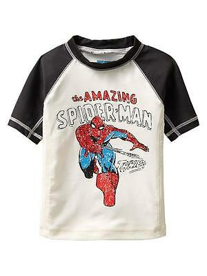 Baby Gap NWT Junk Food rash guard SPIDER MAN swim shirt super hero TWINS