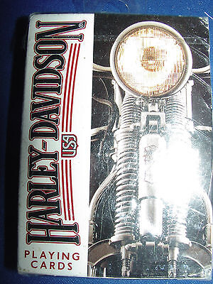 Harley Davidson USA Playing Cards ~U.S.Playing Card Co 243-R -New Factory Sealed