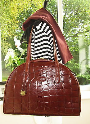 Authentic Vintage Mulberry Brown Congo Leather Collette Shoulder Hand Bag