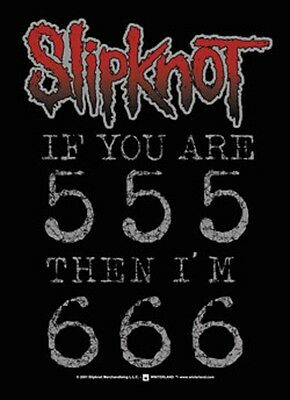"""Slipknot If You Are 555 Fabric Poster 30"""" X 40"""" !"""