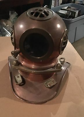 Vintage Copper Divers Helmet Decoration