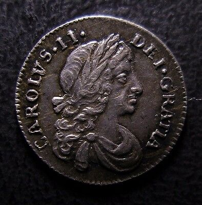 1672 Charles Ii British Silver Maundy Penny