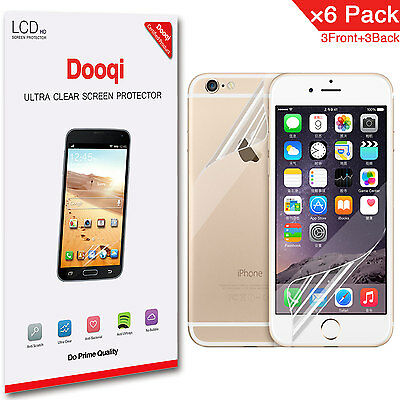 """6X Dooqi Front + Back HD Clear Screen Protector For Apple iPhone 6 / 6S 4.7"""""""