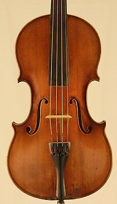 Nice old antique 4/4 Violin German E, Reinhold Schmidt Saxony Two  Piece Back