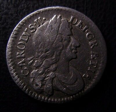 1684 Charles Ii British Silver Maundy Twopence