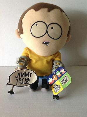 Rare South Park Talking Jimmy/crutches Plush Toy Doll Figure