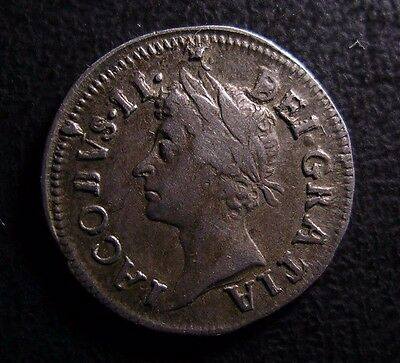 1687 James Ii British Silver Maundy Twopence