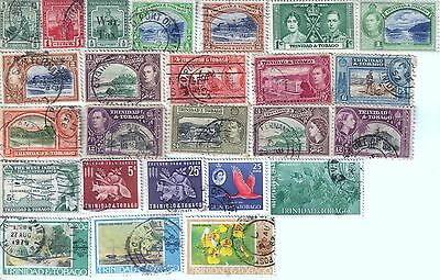 25 different older used stamps from Trinidad & Tobago