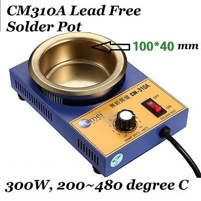 CM310A Stainless Steel Solder Pot Lead-Free Bath 300W 110/220VAC 200 to 480C