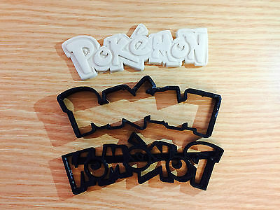 Pokemon logo Biscuit Cookie Cutter Fondant Cake Decorating Mold