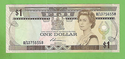 #d279. Fiji One Dollar   Circulated  Banknote  D/13756558