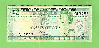 #d279. Fiji  Two Dollar   Circulated  Banknote  D/11785521